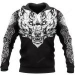 Fenrir Wolf Axe 3D All Over Print Hoodie, Zip-up Hoodie