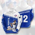 Toronto Blue Jays Roberto Alomar 3D All Over Print Hoodie, Zip-up Hoodie