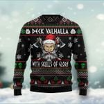 Santa Clause Viking Deck Valhalla With Skulls Of Glory Ugly Christmas Sweater, All Over Print Sweatshirt