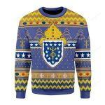 Costa Rica Roman Catholic Ugly Christmas Sweater, All Over Print Sweatshirt