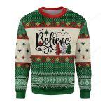 Believe Christmas Tree Ugly Christmas Sweater, All Over Print Sweatshirt