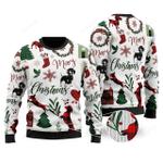 Dachshund Merry Christmas Ugly Christmas Sweater, All Over Print Sweatshirt