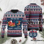 Santa Clause And Chicken Ho Ho Ho Mery Chickmas Ugly Christmas Sweater, All Over Print Sweatshirt