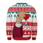 Leo Laughing Meme Ugly Christmas Sweater, All Over Print Sweatshirt