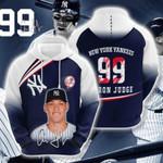 Sports Baseball Mlb New York Yankees Aaron Judge 3D All Over Print Hoodie, Zip-up Hoodie