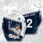 Sports Baseball Mlb New York Yankees Derek Jeter 3D All Over Print Hoodie, Zip-up Hoodie