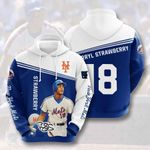 Sports Baseball Mlb New York Mets Darryl Strawberry 3D All Over Print Hoodie, Zip-up Hoodie