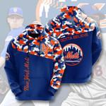 Mlb New York Mets 3D All Over Print Hoodie, Zip-up Hoodie