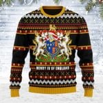 Coat Of Arms Henry VI Ugly Christmas Sweater, All Over Print Sweatshirt
