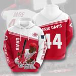 Sports Baseball Mlb Cincinnati Reds Eric Davis  3D All Over Print Hoodie, Zip-up Hoodie