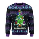 Build Among Us Into A Christmas Tree Ugly Christmas Sweater, All Over Print Sweatshirt
