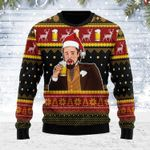 Leo Laughing Meme Drinking Bear Ugly Christmas Sweater, All Over Print Sweatshirt