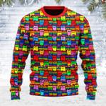 LGBTQ+ Rainbow Flag Cat Ugly Christmas Sweater, All Over Print Sweatshirt