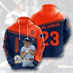 Sports Baseball Mlb Detroit Tigers Kirk Gibson 3D All Over Print Hoodie, Zip-up Hoodie