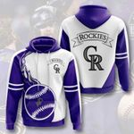 Sports Baseball Mlb Colorado Rockies 3D All Over Print Hoodie, Zip-up Hoodie