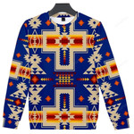 Purple Native Tribes Pattern Ugly Christmas Sweater, All Over Print Sweatshirt