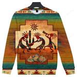 Kokopelli Myth Native American Ugly Christmas Sweater, All Over Print Sweatshirt