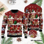 Cavoodle Dog Ugly Christmas Sweater, All Over Print Sweatshirt
