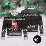 Pug I Believe In Santa Paws Ugly Christmas Sweater, All Over Print Sweatshirt