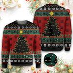 Meowy Christmas Cat Ugly Ugly Christmas Sweater, All Over Print Sweatshirt