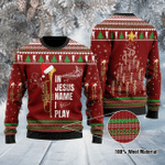 Trumpet Christmas In Jesus Name I Play Ugly Christmas Sweater, All Over Print Sweatshirt