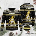 Bee Merry It's Christmas Ugly Christmas Sweater, All Over Print Sweatshirt