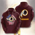 Sports American Football Nfl Washington Redskins 3D All Over Print Hoodie, Zip-up Hoodie