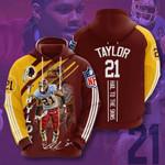Nfl Washington Redskins Sean Taylor 3D All Over Print Hoodie, Zip-up Hoodie
