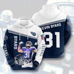 Nfl Tennessee Titans Kevin Byard 3D All Over Print Hoodie, Zip-up Hoodie