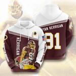 Nfl Washington Redskins Ryan Kerrigan 3D All Over Print Hoodie, Zip-up Hoodie