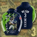 Nfl Seattle Seahawks Russell Wilson 3D All Over Print Hoodie, Zip-up Hoodie