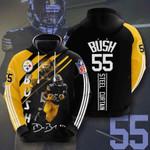 Nfl Pittsburgh Steelers Devin Bush 3D All Over Print Hoodie, Zip-up Hoodie