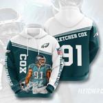 Nfl Philadelphia Eagles Fletcher Cox 3D All Over Print Hoodie, Zip-up Hoodie