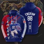 Nfl New York Giants Evan Engram 3D All Over Print Hoodie, Zip-up Hoodie