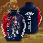 New England Patriots N'Keal Harry 3D All Over Print Hoodie, Zip-up Hoodie