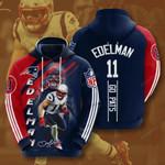 New England Patriots Julian Edelman 3D All Over Print Hoodie, Zip-up Hoodie