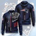 New England Patriots 3D All Over Print Hoodie, Zip-up Hoodie