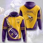 Nfl Minnesota Vikings 3D All Over Print Hoodie, Zip-up Hoodie