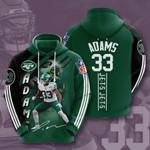 Nfl New York Jets Jamal Adams 3D All Over Print Hoodie, Zip-up Hoodie