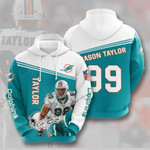 Nfl Miami Dolphins Jason Taylor 3D All Over Print Hoodie, Zip-up Hoodie