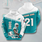 Nfl Miami Dolphins Frank Gore 3D All Over Print Hoodie, Zip-up Hoodie