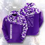 Ncaaf Northwestern Wildcats 3D All Over Print Hoodie, Zip-up Hoodie
