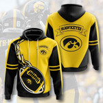 Sports American Ncaaf Iowa Hawkeyes 3D All Over Print Hoodie, Zip-up Hoodie