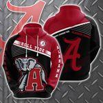 Alabama Crimson Tide 3D All Over Print Hoodie, Zip-up Hoodie