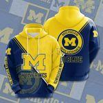 Sports American Football Ncaaf Michigan Wolverines 3D All Over Print Hoodie, Zip-up Hoodie