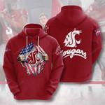 Ncaa Washington State Cougars 3d All Over Print Hoodie, Zip-Up Hoodie