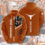Ncaa Texas Longhorns 3d All Over Print Hoodie, Zip-Up Hoodie
