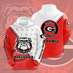 Ncaa Georgia Bulldogs 3d All Over Print Hoodie, Zip-Up Hoodie