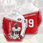 San Francisco 49ers Deebo Samuel 3d All Over Print Hoodie, Zip-Up Hoodie