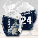 Seattle Mariners Ken Griffey Jr 3D All Over Print Hoodie, Zip-up Hoodie